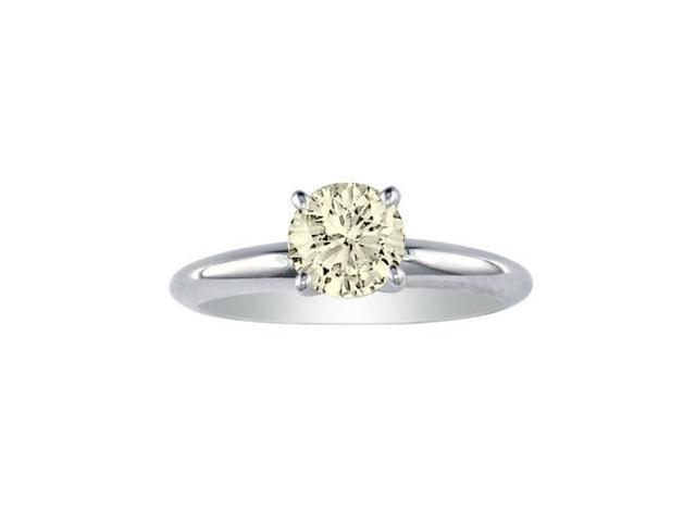 Beautiful 1ct Diamond Solitaire Ring in 18k White Gold, I/J, I1