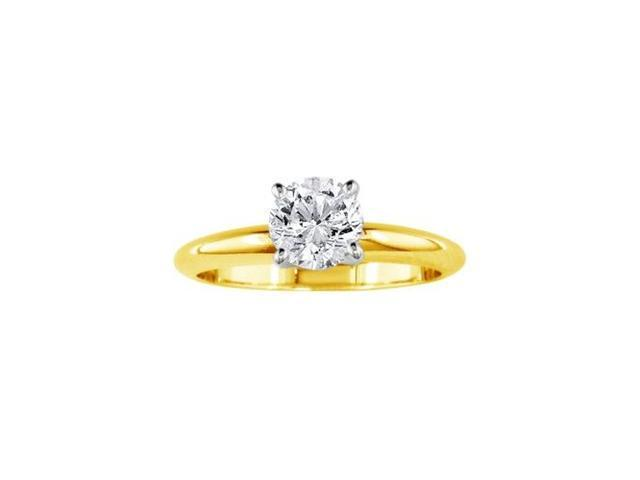 1/2ct 14k Yellow Gold Diamond Engagement Ring, G/H, SI1/SI2