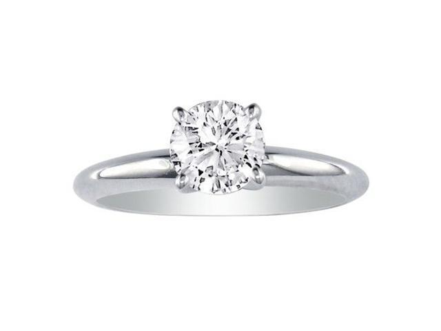 1 1/2ct Round Diamond Solitaire Ring in 14k White Gold, J/K, I1/I2