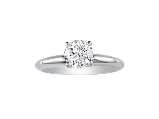 1ct 14k White Gold Diamond Engagement Ring,G/H, SI1/SI2