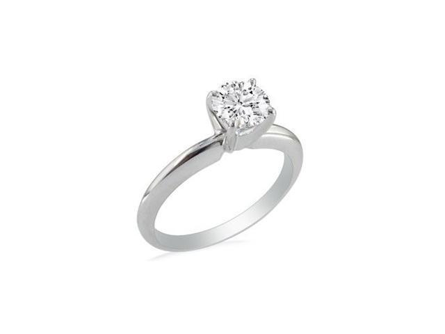 3/4ct Round Shaped Diamonds Solitaire, Platinum H/I and SI2 clarity.