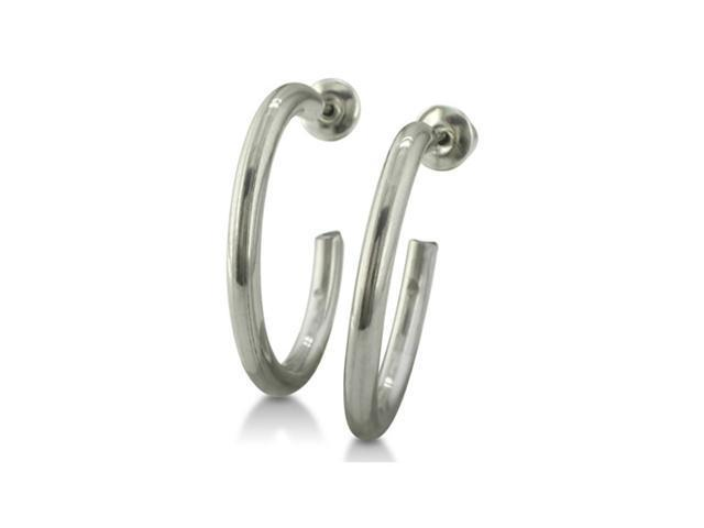 Everyday Stainless Steel Hoop Earrings, With Free Secret Gift!