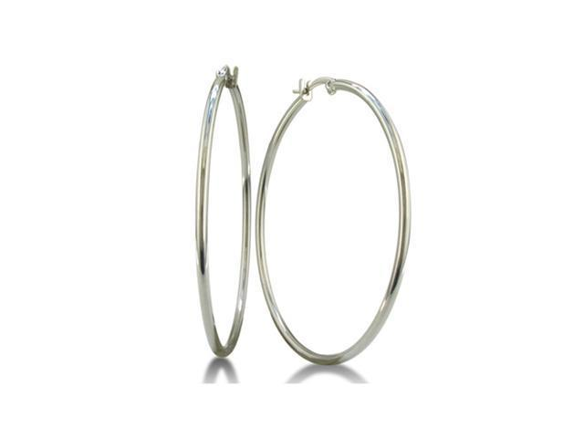 Classic Big Stainless Steel Hoop Earrings
