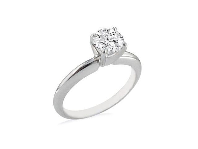 1ct Hearts & Arrows Diamond Solitaire Ring in 18k WG, H/I, SI3