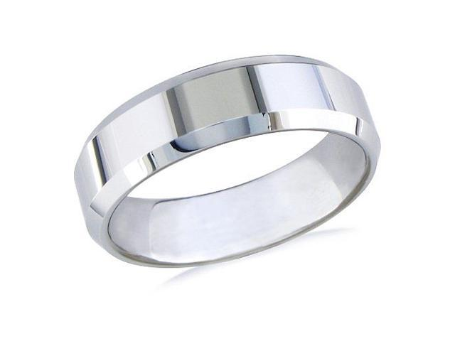 7mm Beveled Tungsten Ring (Available ,Ring Sizes 8-13)