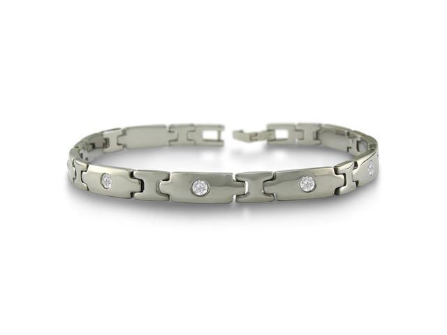 Stainless Steel CZ. Bracelet 8 1/2