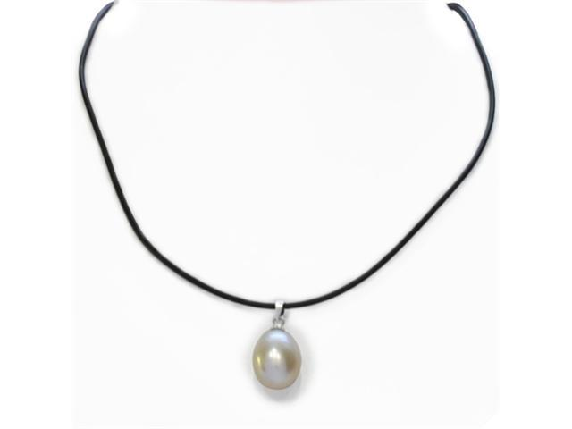 Huge 11-12mm Solitaire Freshwater Pearl Drop Pendant 20 inches