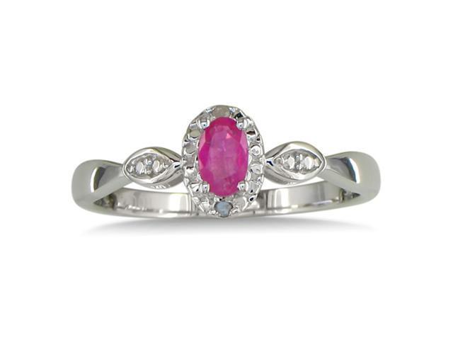 1/2ct Diamond and Ruby Ring, Available in All Ring Sizes