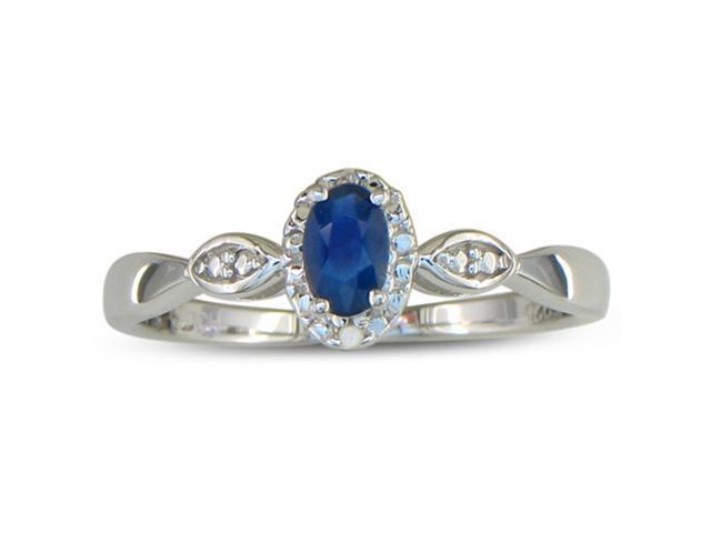 1/2ct Diamond and Sapphire Ring, Available in All Ring Sizes