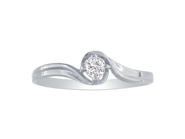 10k White Gold Diamond Promise Ring with .05ct Diamond