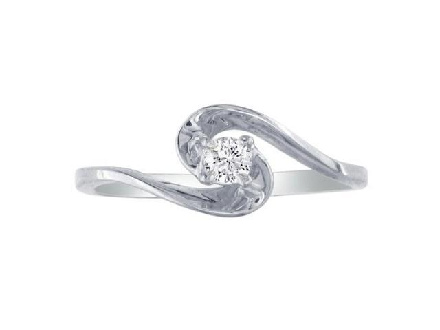 The Perfect 10k White Gold Diamond Promise Ring