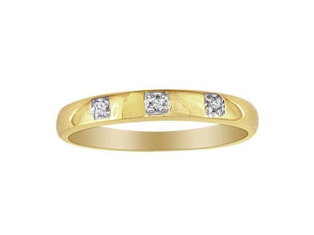Three Diamond Promise Ring in 10k Yellow Gold