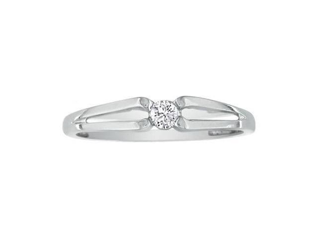 .07ct Diamond Promise Ring 10k White Gold