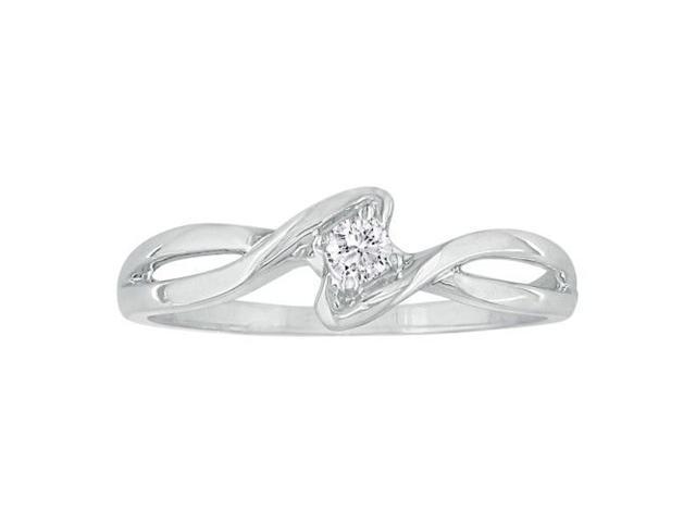 1/10ct Twist Diamond Promise Ring in 10k White Gold