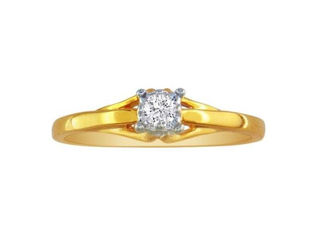 10k Yellow Gold .05ct Diamond Promise Ring