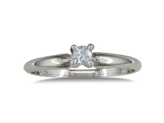 .10ct Diamond Promise Ring in 10k White Gold