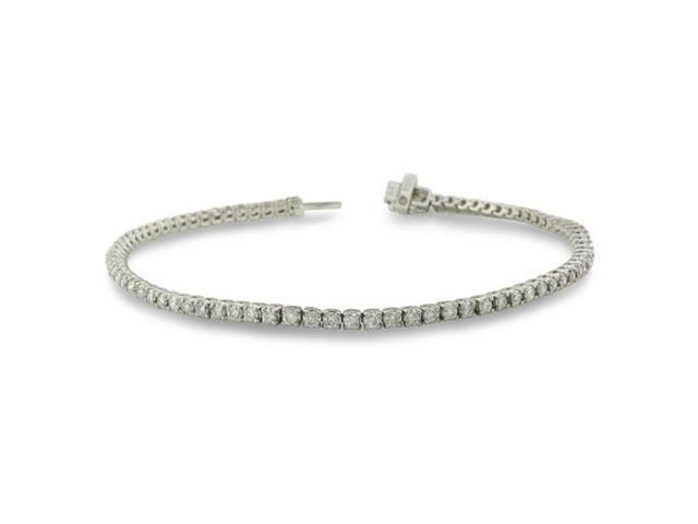 3ct Round Setting Diamond Tennis Bracelet in 10k White Gold