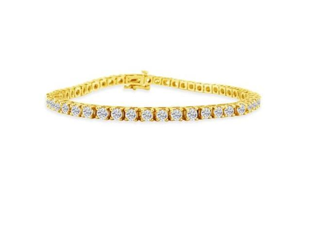 9 inch 3.85ct diamond tennis bracelet in 14k Yellow Gold