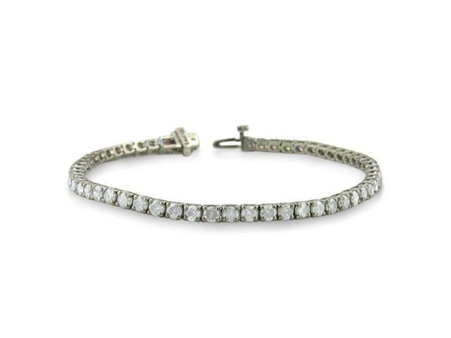 5ct Round Setting Diamond Tennis Bracelet in 14k White Gold