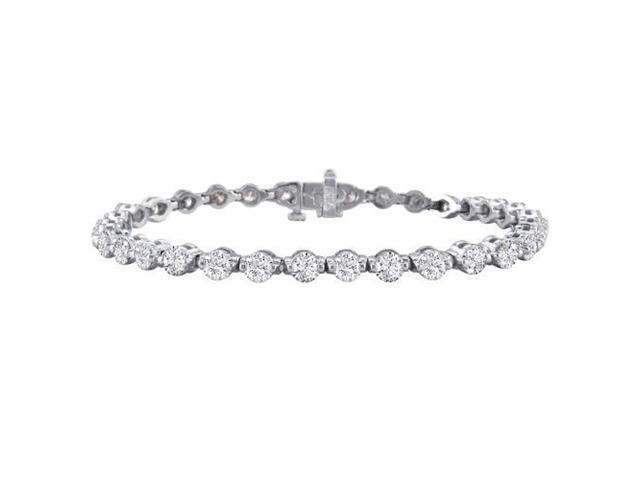 Gorgeous 6 1/2ct Diamond Tennis Bracelet in 14k White Gold