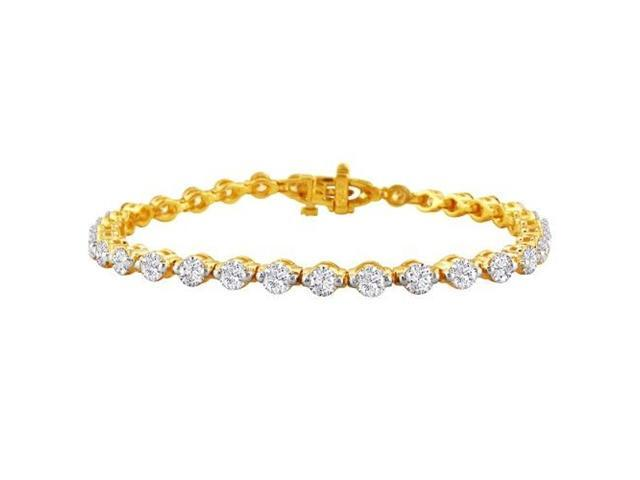 Gorgeous 7ct Diamond Tennis Bracelet in 14k Yellow Gold