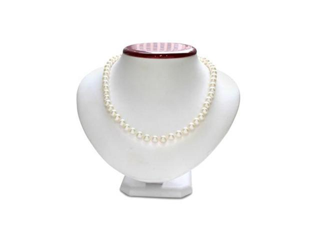 7mm AA Hand Knotted Pearl Necklace, 14k White Gold Clasp