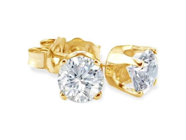 BLOWOUT Price. 1/4ct Diamond Stud Earrings in 10k Yellow Gold.