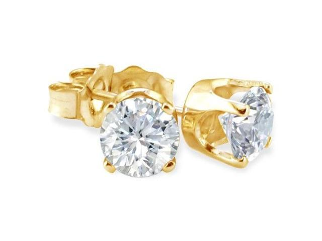 Bargain 1/3ct Diamond Stud Earrings In 14k Yellow Gold K/L, I2