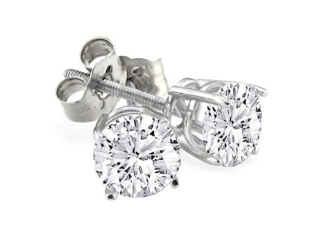 1/4ct G/H SI/VS Round Diamond Stud Earrings In 14k White Gold