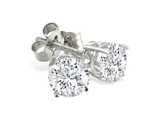 CLOSEOUT PRICE! 1 1/2ct Diamond Stud Earrings In 14k White Gold.