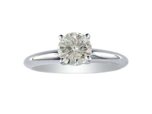 1ct Genuine Diamond Solitaire Ring in 10k White Gold