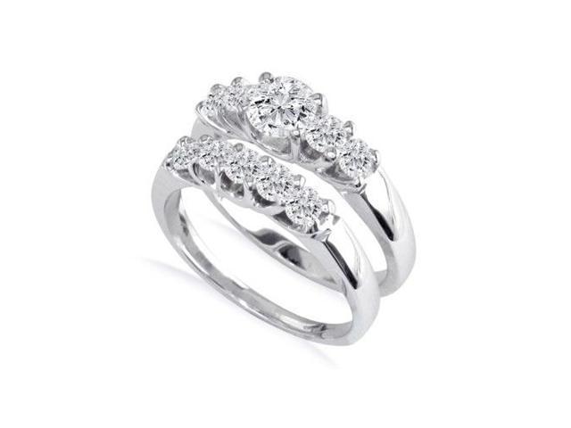 1ct Diamond Bridal Set, 1/4ct Center Diamond in 14k White Gold