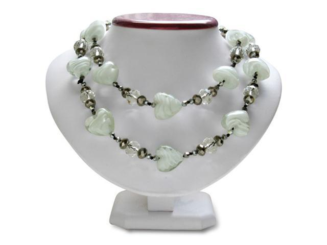 Murano Glass Heart and Crystal Bead Necklace