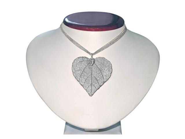 Sterling Silver Natural Heart Leaf Pendant