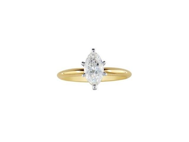 1/4ct Marquise Cut Diamond Engagement Ring in 10k Yellow Gold