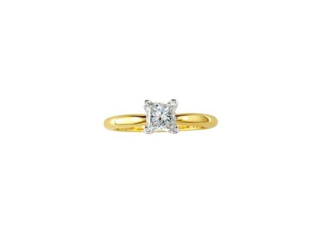1/4ct Princess Diamond Solitaire Engagement Ring in 14kYG, I/J, I1