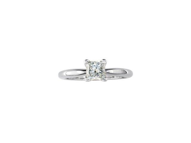1/3ct Princess Diamond Solitaire Ring in 14k White Gold
