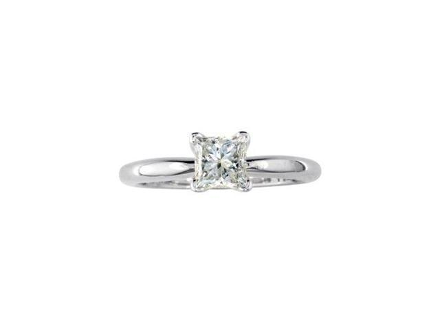 1/2ct Princess Diamond Solitaire Engagement Ring in 14k G/H,SI1/SI2