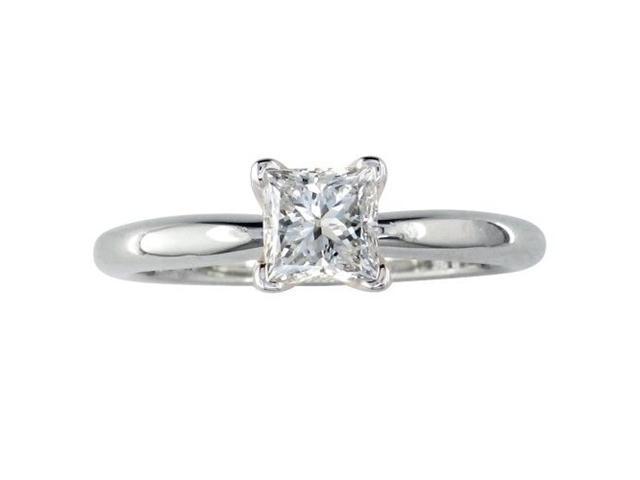 1/2ct Princess Cut Diamond Engagement Ring in 14k, I/J, I1/I2