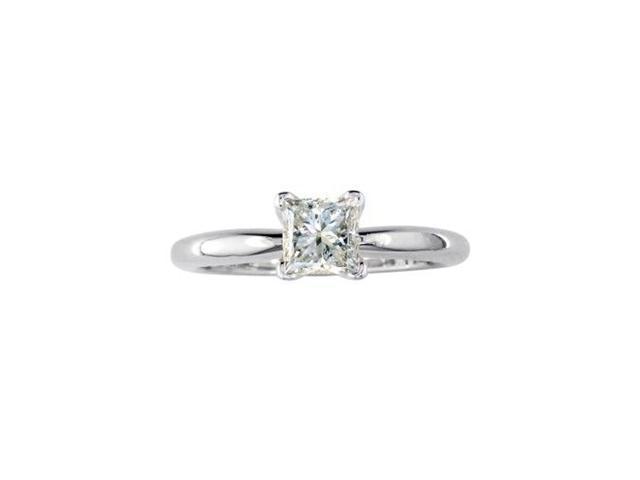 3/4ct Princess Diamond Engagement Ring, 14k White Gold, G/H/I SI1/SI2