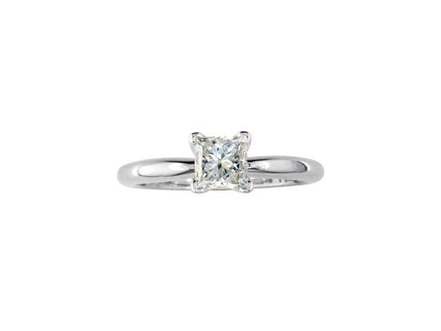 3/4ct Platinum Princess Diamond Solitaire Ring. G/H/I SI1/Si2