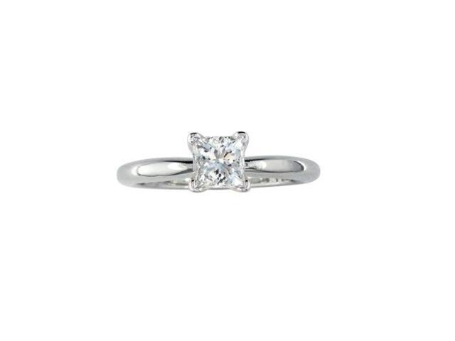 3/4ct Princess Cut Diamond Engagement Ring in 14k White Gold