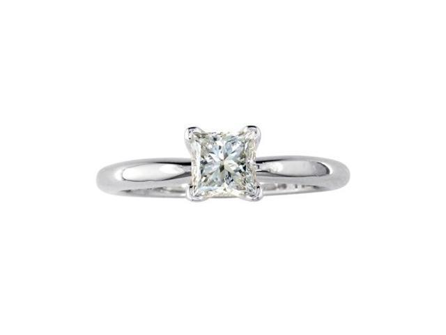 1ct Platinum Princess Diamond Solitaire Engagement Ring, G/H, SI1