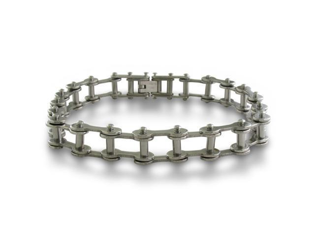 8.5 Inch Men's Stainless Steel Open Bike Chain Bracelet