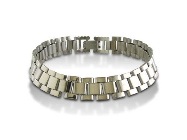 8-Inch Lightweight Men's Stainless Steel 25-Link Bracelet