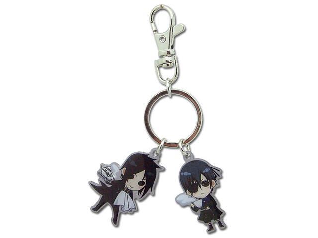 Black Butler Sebastian & Ciel Sd Metal Keychain
