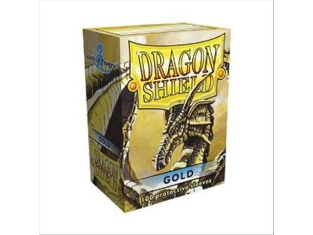 Dragon Shields - Standard Size, Box Of 100 - Gold