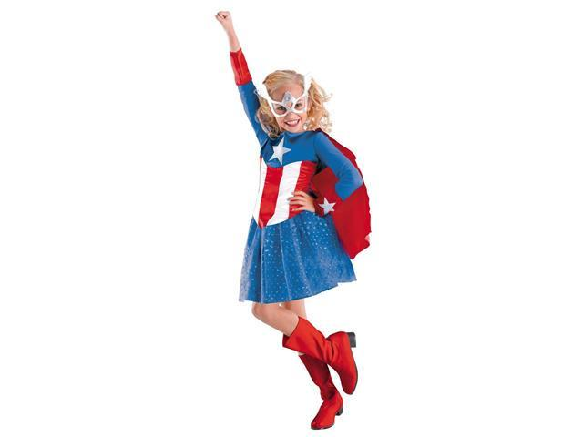 Child Captain America Girl Costume Disguise 50237