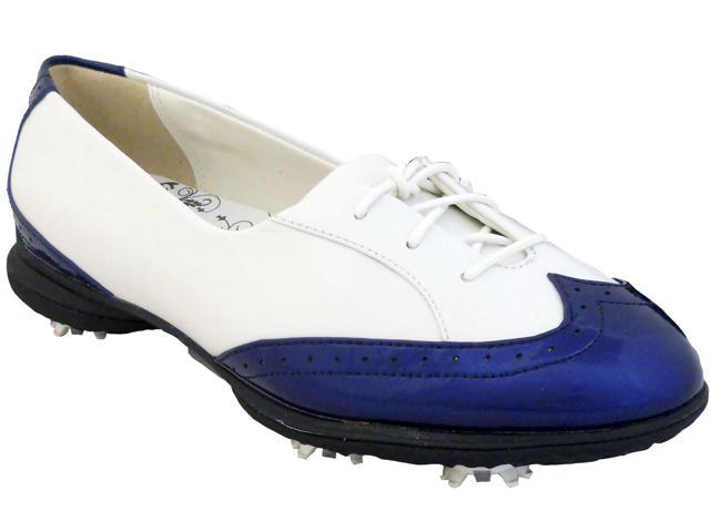 NEW Womens Callaway Rhiona W476 Waterproof Golf Shoes White/Navy 5.5 M -Ret $130