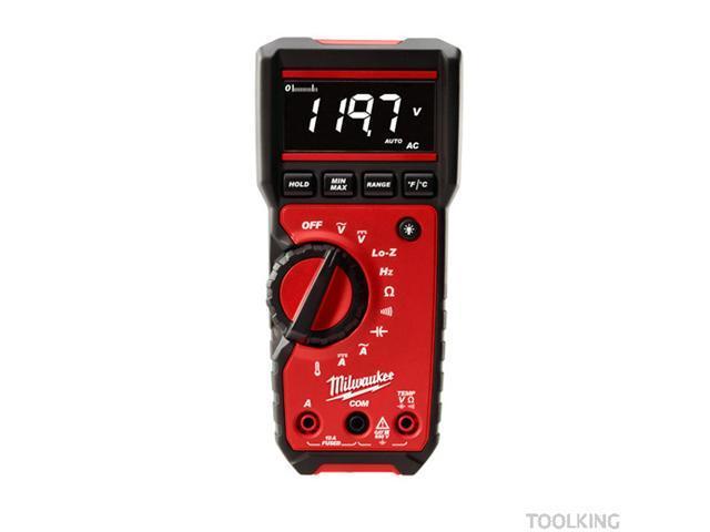 MILWAUKEE 2217-20 Digital Multimeter, 40 MOhms, 600V, 10A